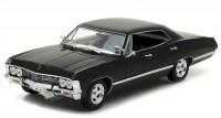 """1:24 CHEVROLET Impala Sport Sedan с открывающимся багажником (из телесериала """"Сверхъестественное"""") 1967 Black"""