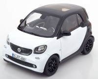 1:18 SMART Fortwo Coupe (C453) 2015 Black/White