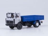 1:43 МАЗ 5337 бортовой (поздняя кабина), 1987 г. [откидывающаяся кабина] (серо-синий)