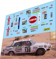 1:43 набор декалей LADA 2105 №136 Dakar 1983