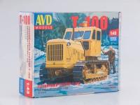 1:43 Сборная модель Гусеничный трактор Т-100