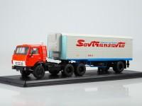 1:43 КАМский грузовик-54112 с полуприцепом Alka N12CH Sovtransavto