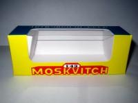 1:43 Коробка для модели Mосквич Novoexport (синий с желтым)