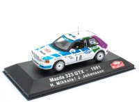 1:43 MAZDA 323 GTX #10 H.Mikkola/J.Johansson Rally Monte Carlo 1991