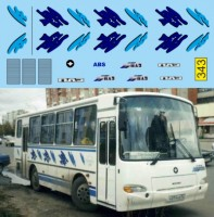 1:43 набор декалей Павловский автобус 4320 Аврора (кляксы на борт)