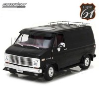 1:18 CHEVROLET G-Series Van (фургон) 1976 Black