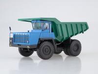 1:43 Карьерный самосвал БЕЛАЗ-540А (решётка с 5 поперечинами), синий/зелёный