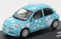 """1:43 Nissan March """"Bubble"""" 2009 (blue)"""