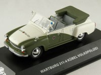 "1:43 WARTBURG 311-4 KUBEL ""VOLKSPOLIZEI"" (White and Green) 1957"