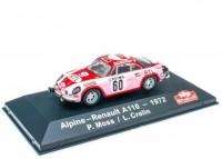 1:43 ALPINE RENAULT A110 #60 P.Moss/L.Crelin Rally Monte Carlo 1972
