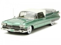 1:43 CADILLAC Superior Flower Car (катафалк) 1959 Metallic Light Green/White