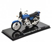 1:24 мотоцикл KAWASAKI Mach IV 1969 Blue