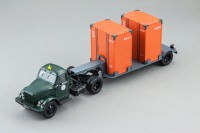 1:43 Горький тип 51П тягач и Т-213 полуприцеп (зеленый, т. серый)