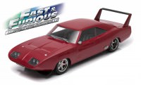 "1:18 DODGE Charger Daytona Custom 1969 Dark Red ""Fast & Furious"" (из к/ф ""Форсаж VI"")"
