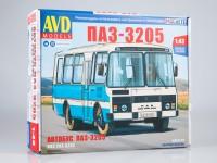 1:43 Сборная модель Павловский автобус-3205 пригородный