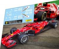 1:43 набор декалей Formula 1 №37 Ferrari  SF71-H Kimi Raikonen