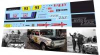 1:43 набор декалей ЗАЗ 968 ралли СССР 1981
