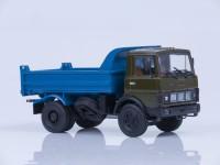 1:43 МАЗ 5551 самосвал (ранняя кабина), 1988 г. [откидывающаяся кабина] (хаки-синий)