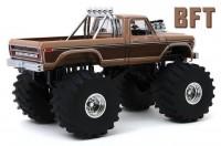 "1:18 FORD F-350 Monster Truck ""BFT"" Bigfoot 1978 Brown Metallic (колеса 66 дюймов)"