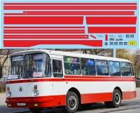 1:43 набор декалей Полосы ЛАЗ 695Н (красный)