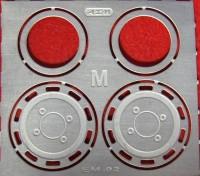 1:43 Фототравление Задние колпаки МАЗ (Маэстро-моделс), матовый никель