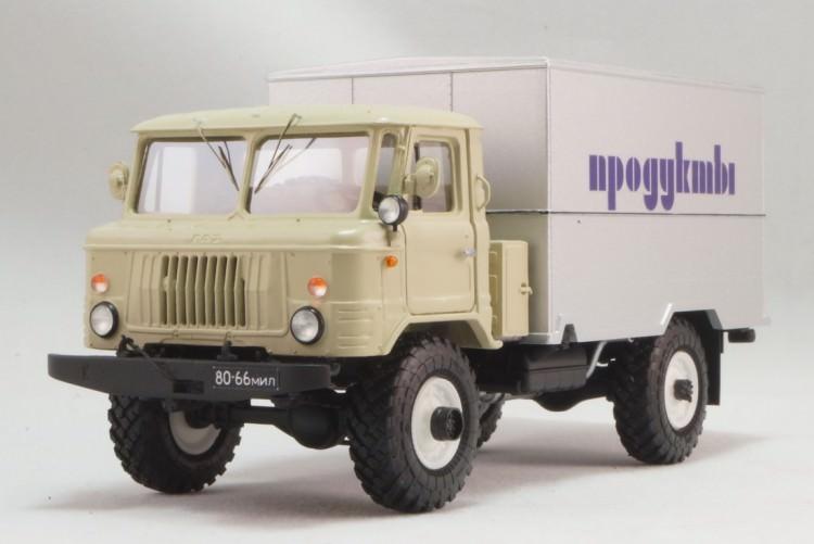 1:43 Горький-66-02 фургон ГЗСА-3714 для перевозки продуктов образца 1981 года