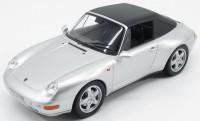 1:18 PORSCHE 911 Cabriolet (993) 1994 Silver