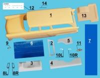 1:43 РАФ - Горький-13С Санитарный (ранний вариант) ТрансКит для моделей IST