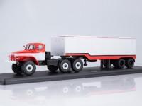 1:43 Уральский грузовик 377С с полуприцепом ОДАЗ-935