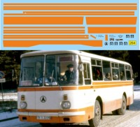 1:43 набор декалей Полосы ЛАЗ 695Н (оранжевый)