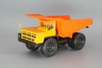 1:43 БелАЗ-7523 карьерный самосвал, желтый / оранжевый