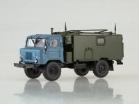 1:43 Командно-штабная машина КШМ Р-142Н (66), голубой / хаки