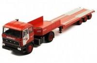 """1:43 DAF 2800 с полуприцепом-платформой """"Mammoet"""" (NL) 1978 Red"""