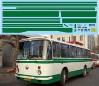 1:43 набор декалей Полосы ЛАЗ 695Н (зеленый)