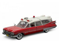 1:18 CADILLAC Ambulance 1959 Red and White (ех Precision Collection)