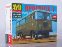 1:43 Сборная модель Штабной автобус Прогресс-7