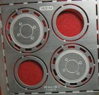 1:43 Фототравление Задние колпаки МАЗ (НАП), матовый никель