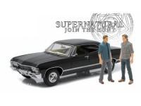 """1:18 CHEVROLET Impala Sport Sedan 1967 c фигурками Сэма и Дина (из телесериала """"Сверхъестественное"""")"""