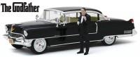 """1:18 CADILLAC Fleetwood Series 60 Special с фигуркой Дон Вито Корлеоне 1955 Black (из к/ф """"Крёстный отец"""")"""