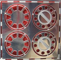1:43 Фототравление колпаки передних колес МАЗ (1 пара) блестящий никель