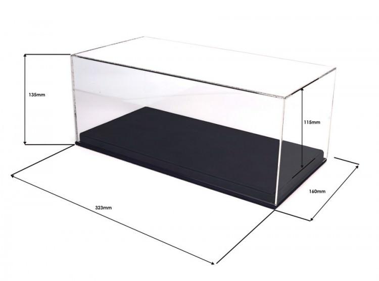 Бокс для модели в масштабе 1:18, подставка из черной кожи (323*160*135mm)