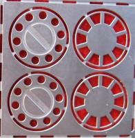 1:43 Фототравление колпаки передних колес МАЗ (1 пара) матовый никель