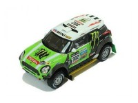 1:43 MINI ALL 4 RACING #302 S.Peterhansel-J.P.Cottret Winner Dakar 2013