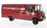 """1:18 MERCEDES-BENZ L 408 фургон """"Porsche"""" 1972 Maroon"""