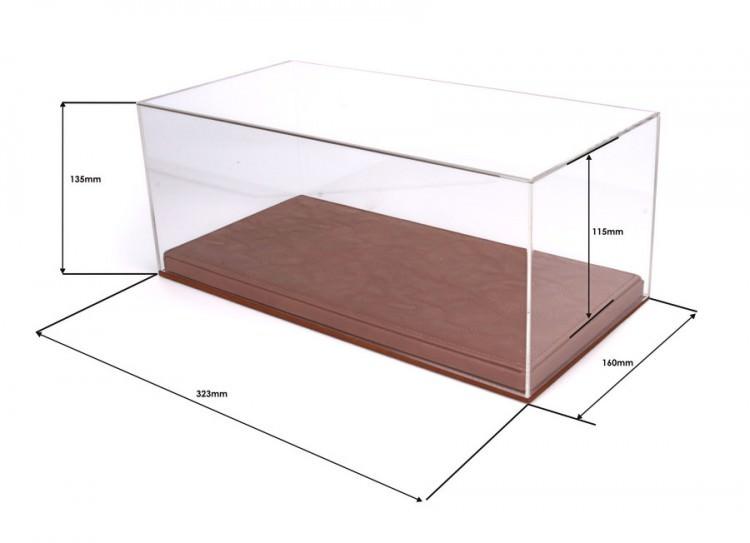 Бокс для модели в масштабе 1:18, подставка из кожи (323*160*135mm)