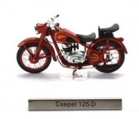 1:24 мотоцикл CSEPEL 125D Венгрия 1954