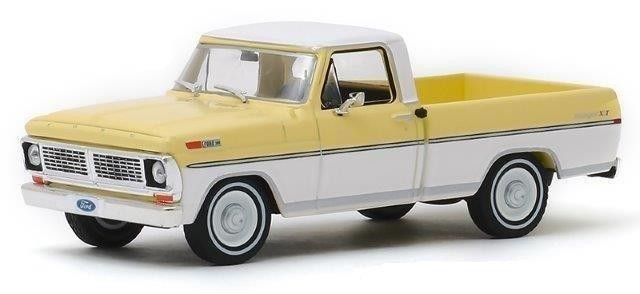 1:43 FORD F-100 пикап 1970 Pinto Yellow / Pure White
