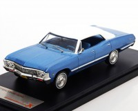 1:43 Chevrolet Impala Sport Sedan 1967 Metallic Blue/White