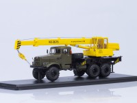 1:43 Автокран КС-3575 (на шасси КРАЗ-255Б1), хаки/желтый
