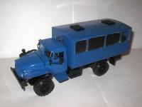 1:43 Уральский грузовик 43206 вахтовый автобус с низкой крышей (синий)